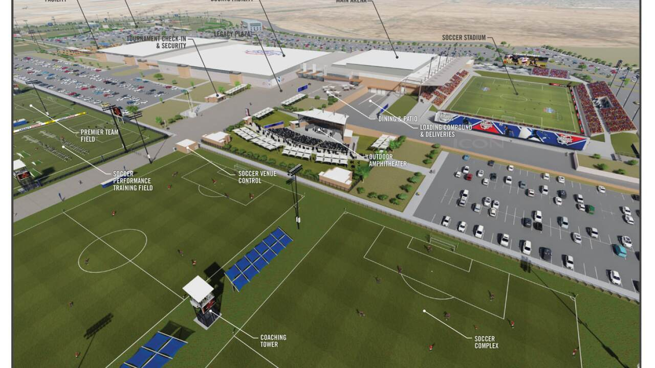 Legacy Sports Park Mesa - concept rendering 2
