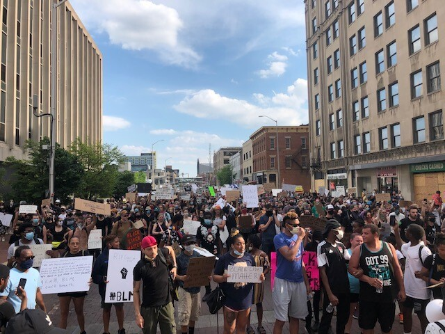 Downtown Indianapolis Protest