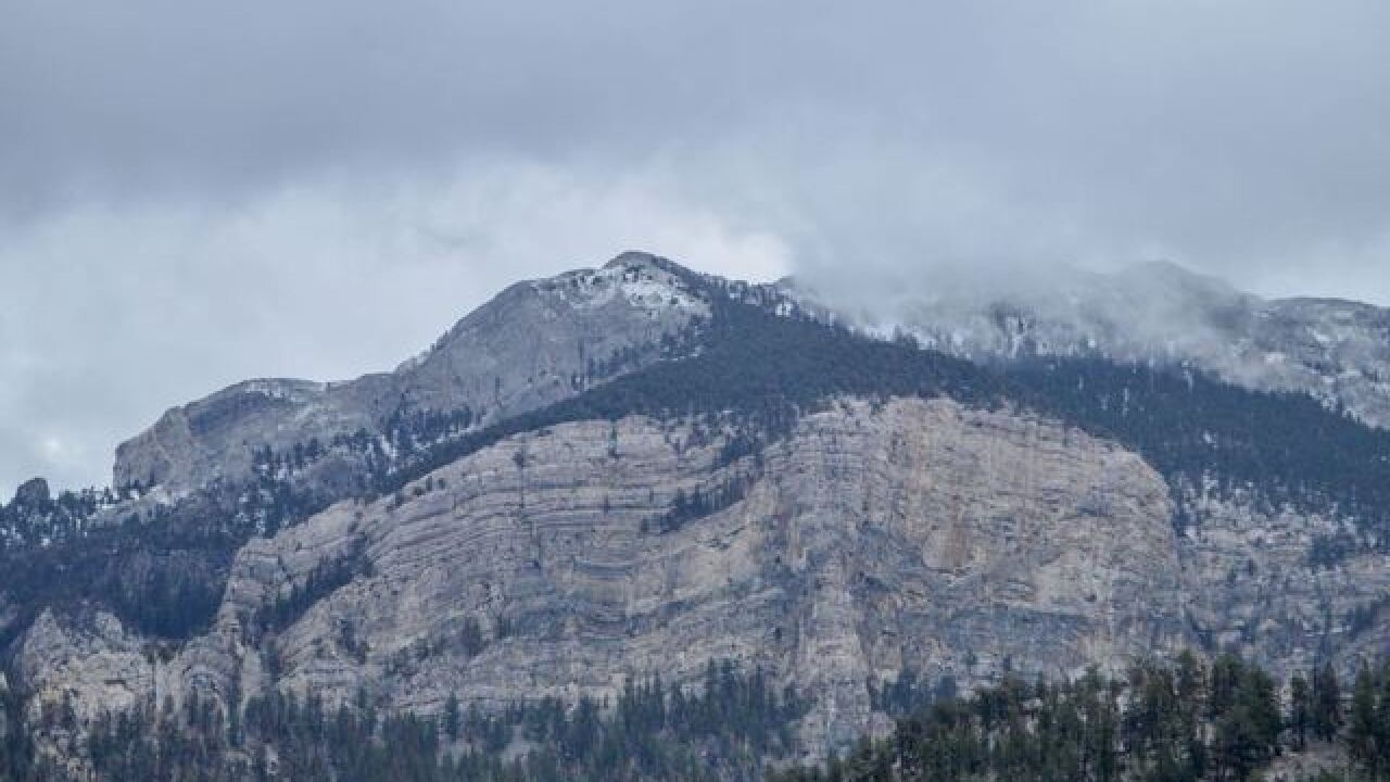 Spring Mountains welcomes Monday snow