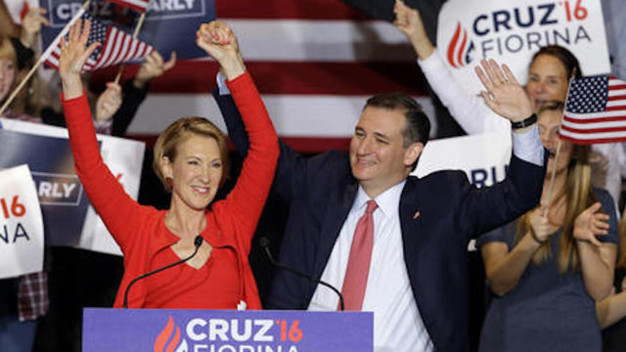 Cruz takes unusual step by selecting Fiorina without nomination in hand