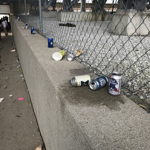 PHOTOS: Oh, the trash left over after the fun of the Indy 500