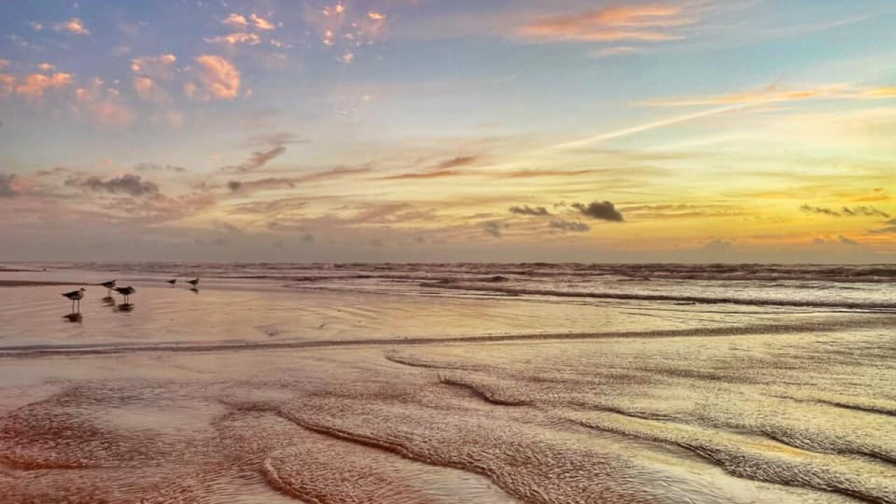 Padre Island Sunrise - Photo By: FB Coastal Bend Weather Watcher Lu Ann Kingsbury