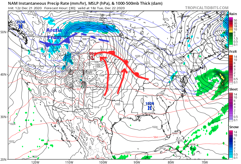 Surface Forecast Valid Noon On Tuesday.png