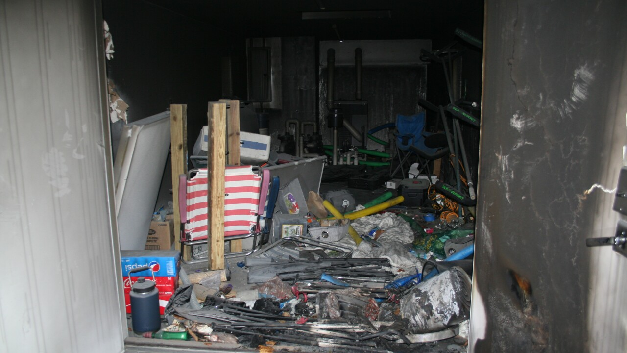 These are photos provided by New London, CT authorities showing the damage left behind by a fire inside a shed that left Tony Hsieh gravely injured.