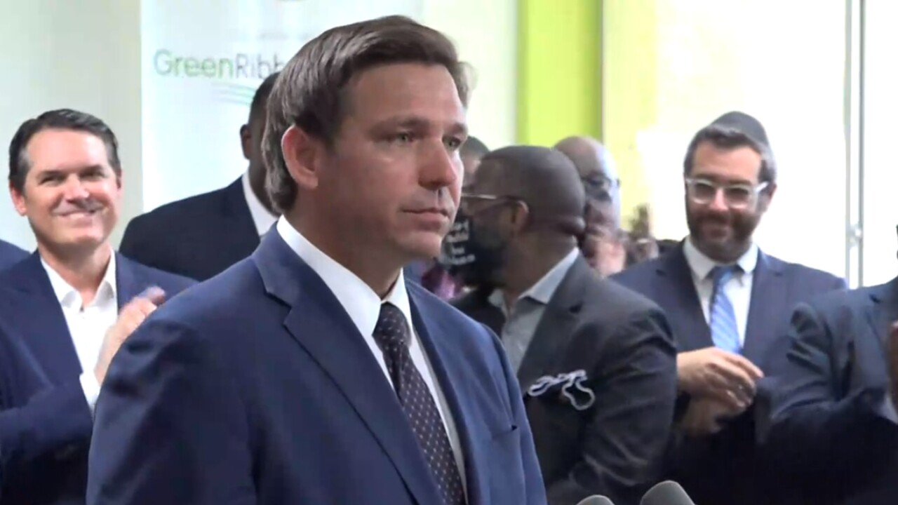 Florida Gov. Ron DeSantis holds a news conference at Christ the King Catholic School in Jacksonville on May 11, 2021.jpg