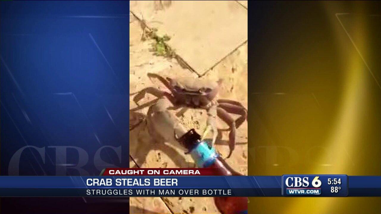 'Crabby' character steals man'sbeer