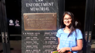 Teen journeys across the country to thank law enforcement