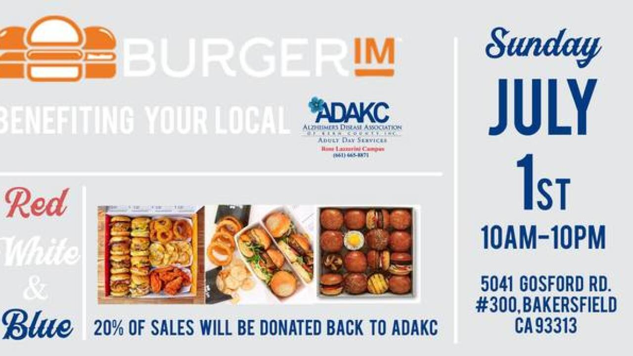 Burgerim hosting fundraiser benefitting Alzheimer's Disease Association of Kern County