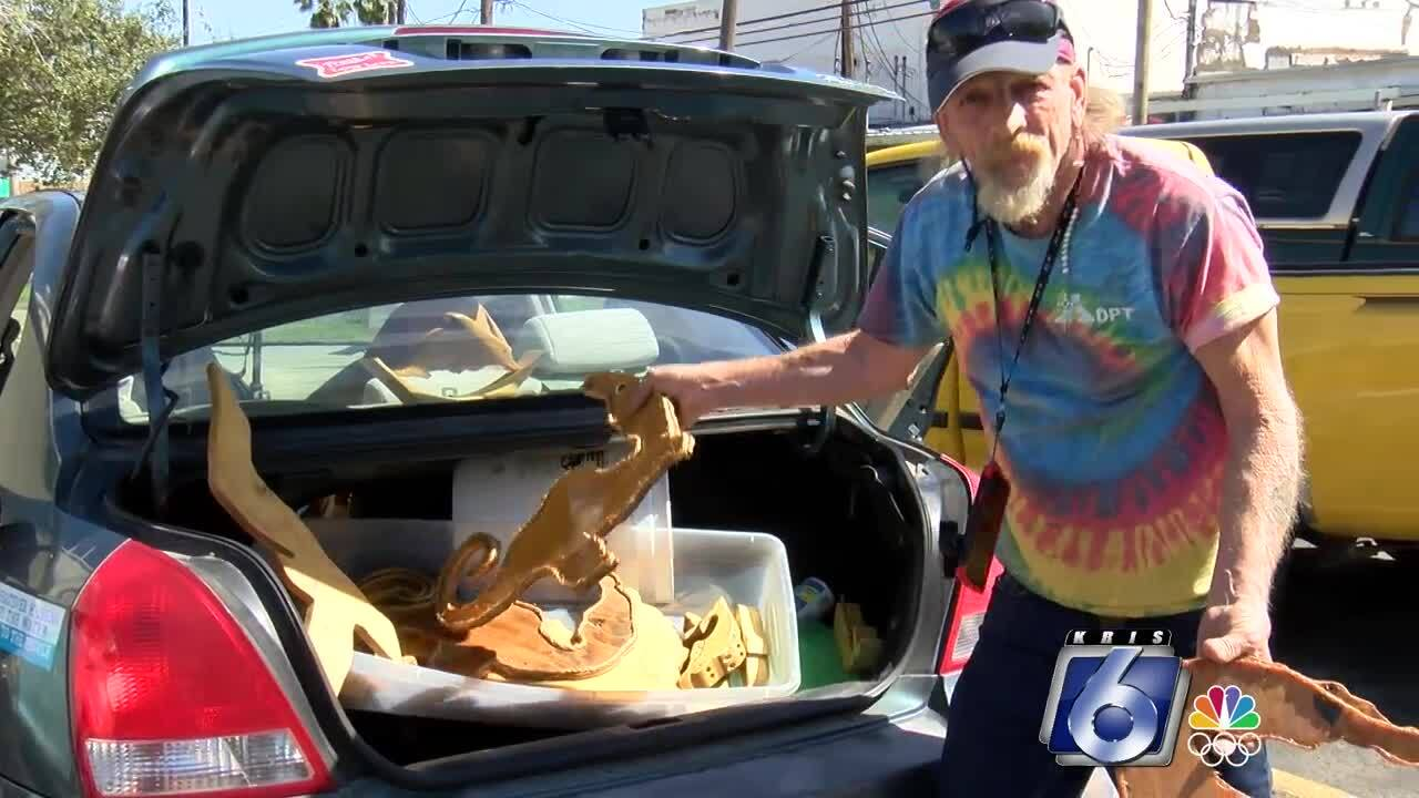 Navy veteran Franklin Adams turns trash into treasures