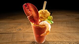 Red Lobster's New Bloody Mary Is Garnished With A Cheddar Biscuit And A Lobster Claw
