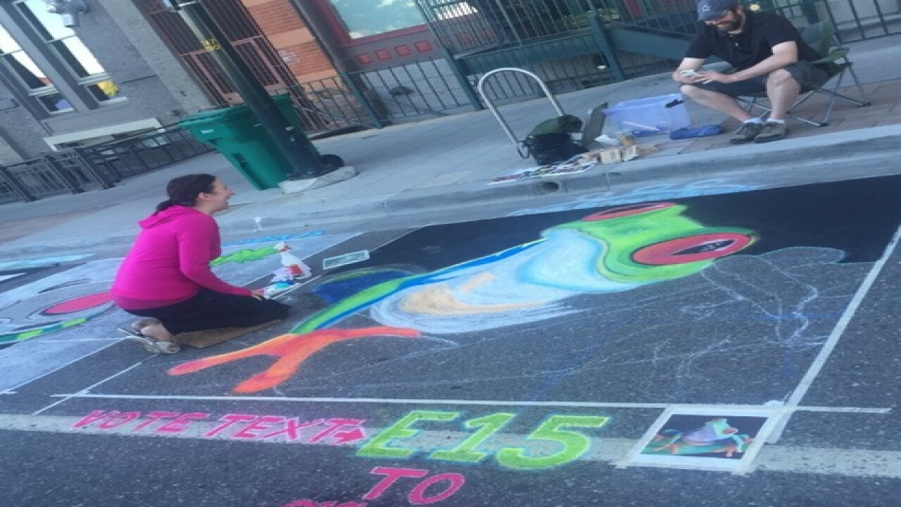 There today, gone tomorrow: Chalk Art downtown