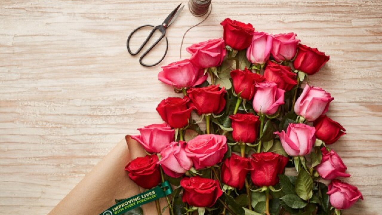 Valentine's Day rose deal offered by Whole Foods and Amazon