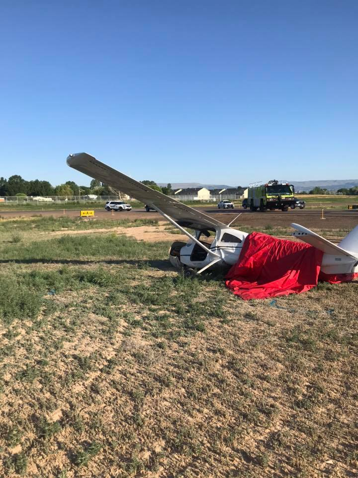 Photos: Flight instructor and student injured in Uintah Co. plane crash