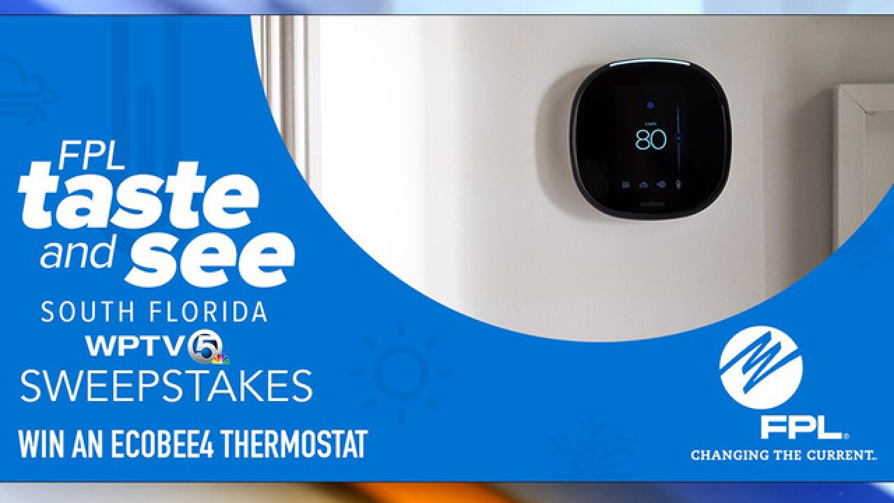 Enter to win a smart thermostat from FPL to cut down on energy costs
