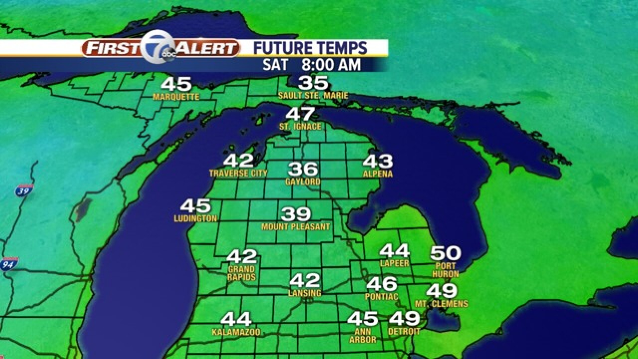 Frosty temps expected in Michigan this weekend