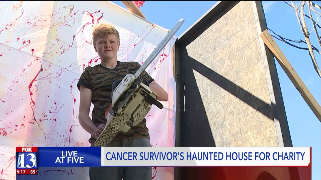 Cancer survivor creates haunted house to help give back to those who helpedhim