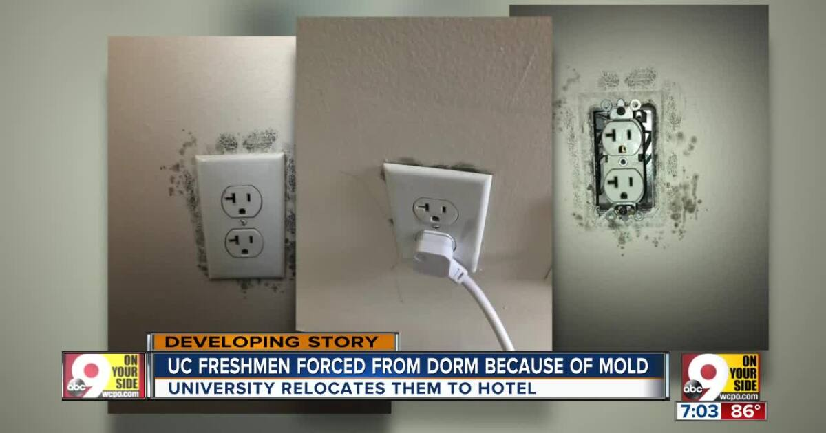University of Cincinnati freshmen staying in hotel after mold