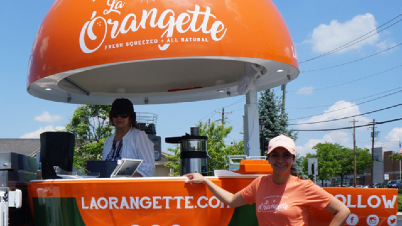 Keep your eyes peeled this summer for a giant orange on wheels selling healthy drinks