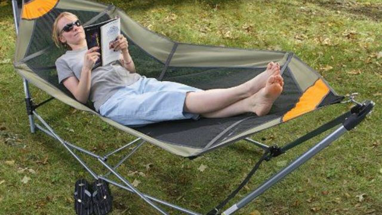 Portable folding hammock is on sale