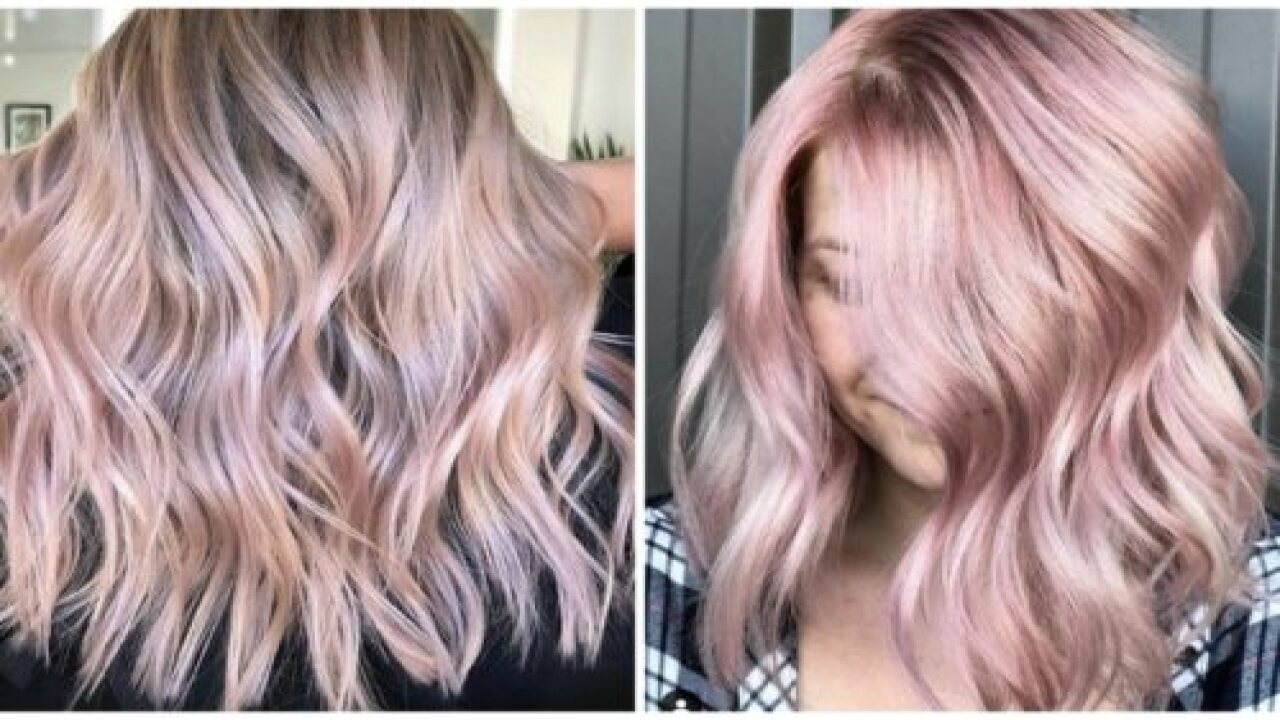 Rose Gold Hair Is Making A Comeback This Spring