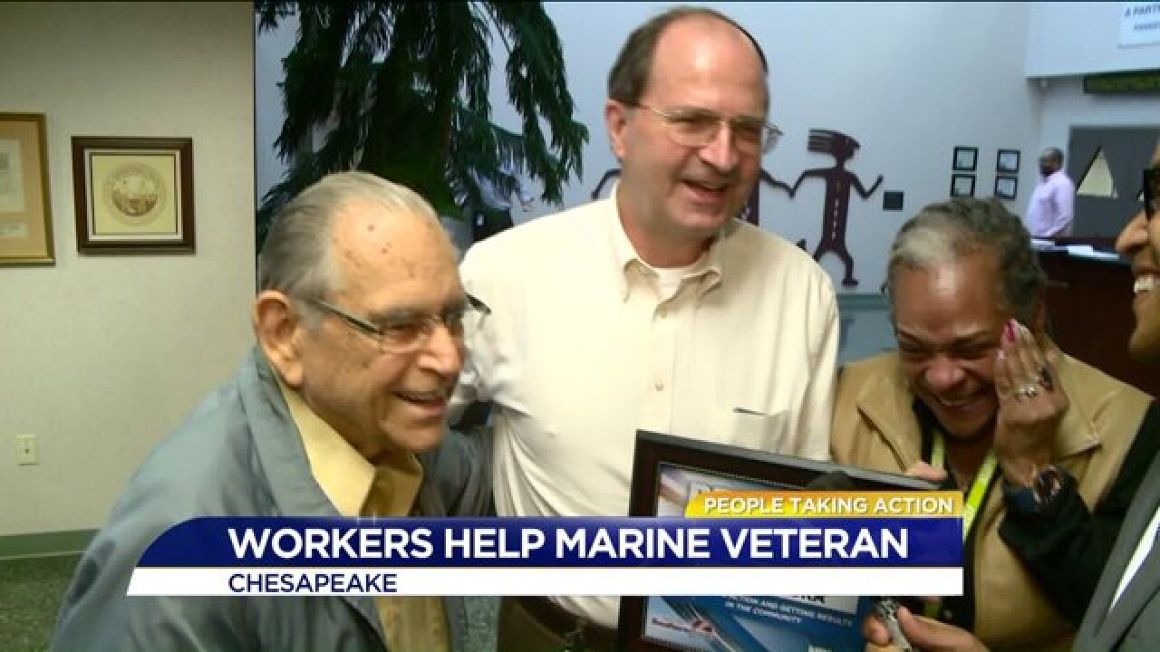 People Taking Action: Chesapeake supervisor helps fellow veteran flooded fromhome