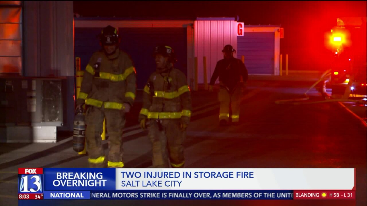Two people burned in fire at Salt Lake City storageunit