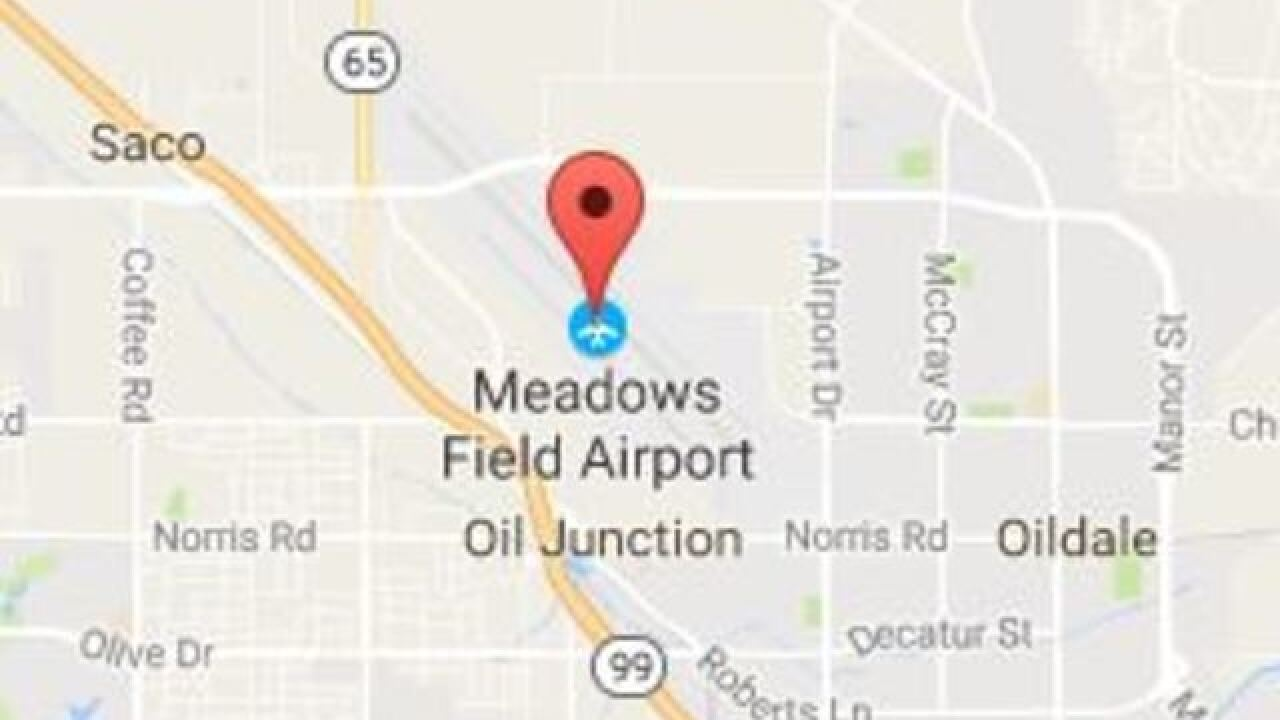 Aircraft accident reported at Meadows Field