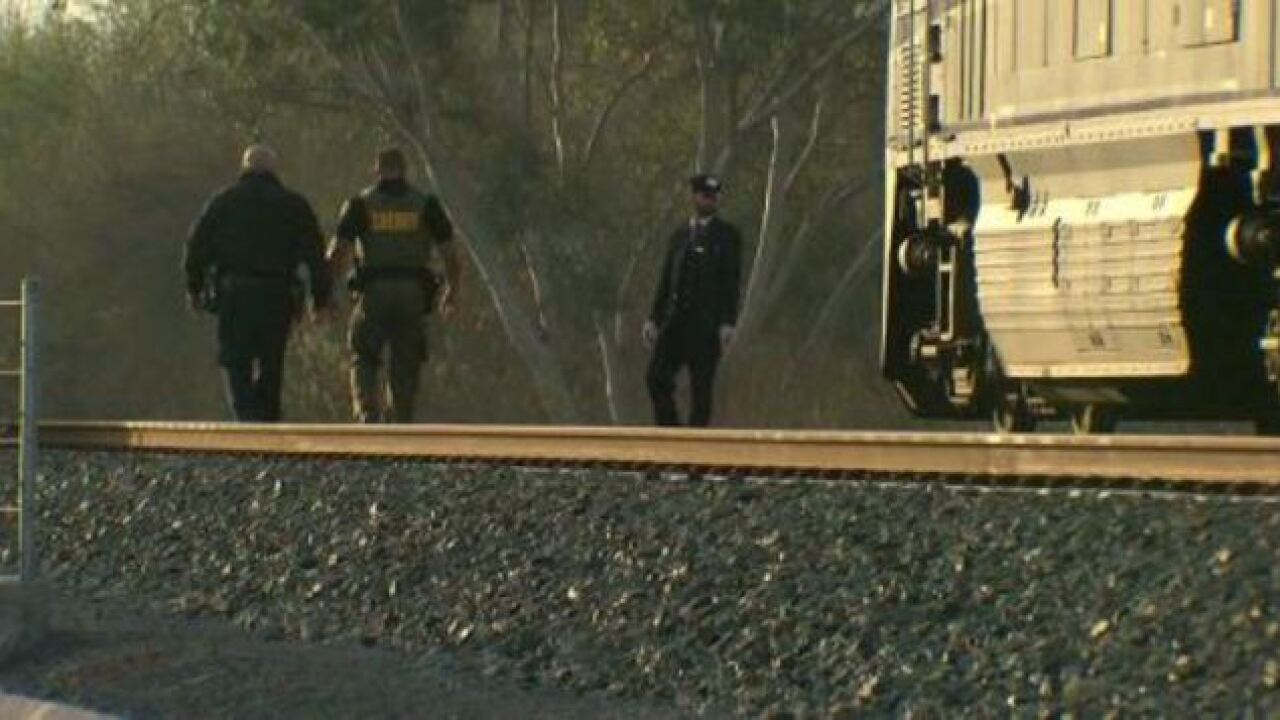 Pedestrian killed after being hit by train