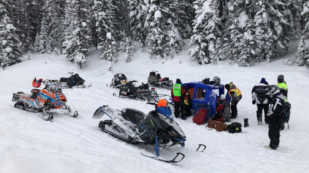 Minnesota Man Rescued After Crashing Snowmobile Near West Yellowstone