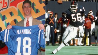 Peyton Manning and Lawrence Taylor
