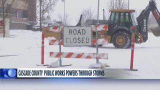 Cascade County Public Works working to keep up with record snowfall