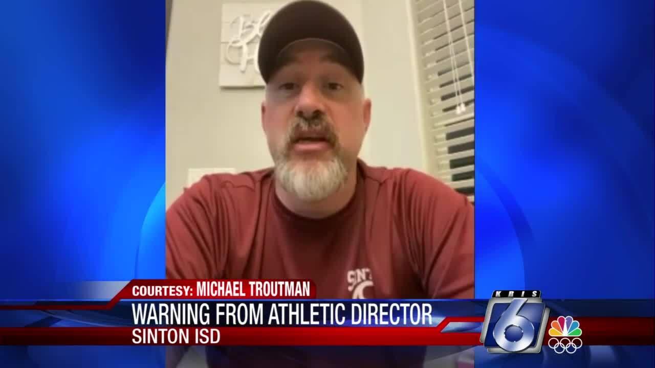 Sinton ISD athletic director Michael Troutman
