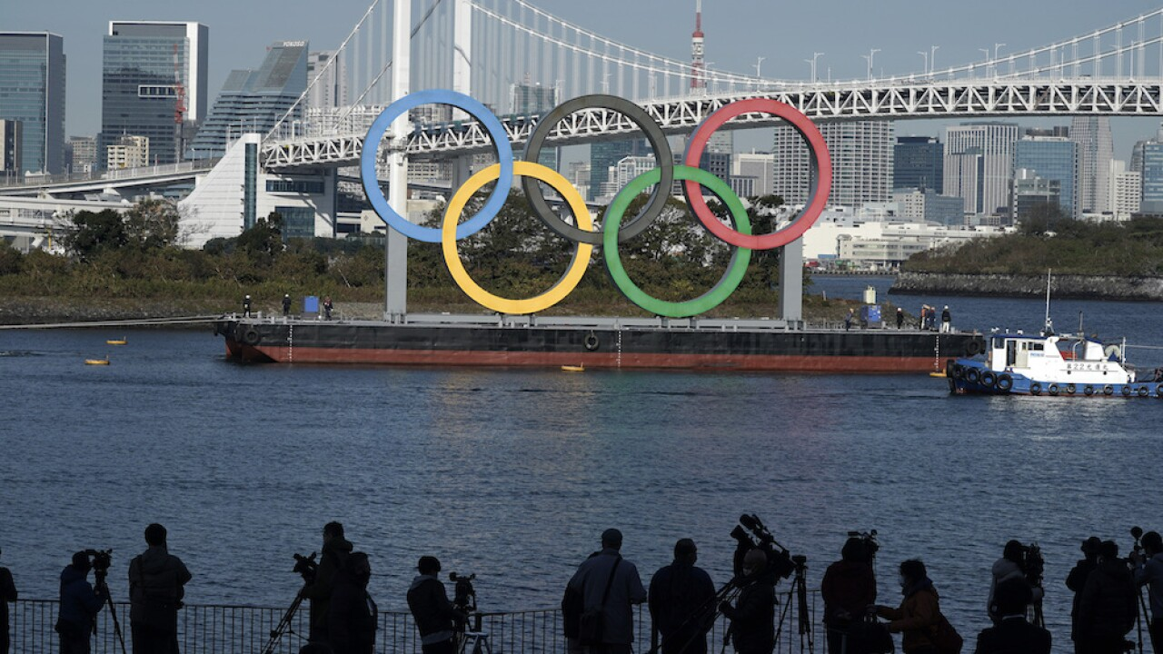 Olympic rings back in Tokyo Bay; a sign of hope in pandemic