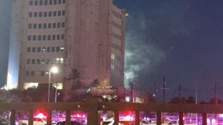fire on top of nueces county courthouse.JPG