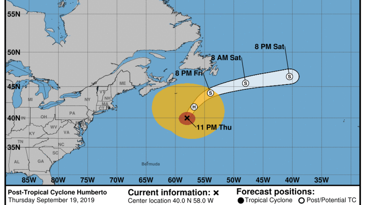 Humberto weakens to extratropical cyclone
