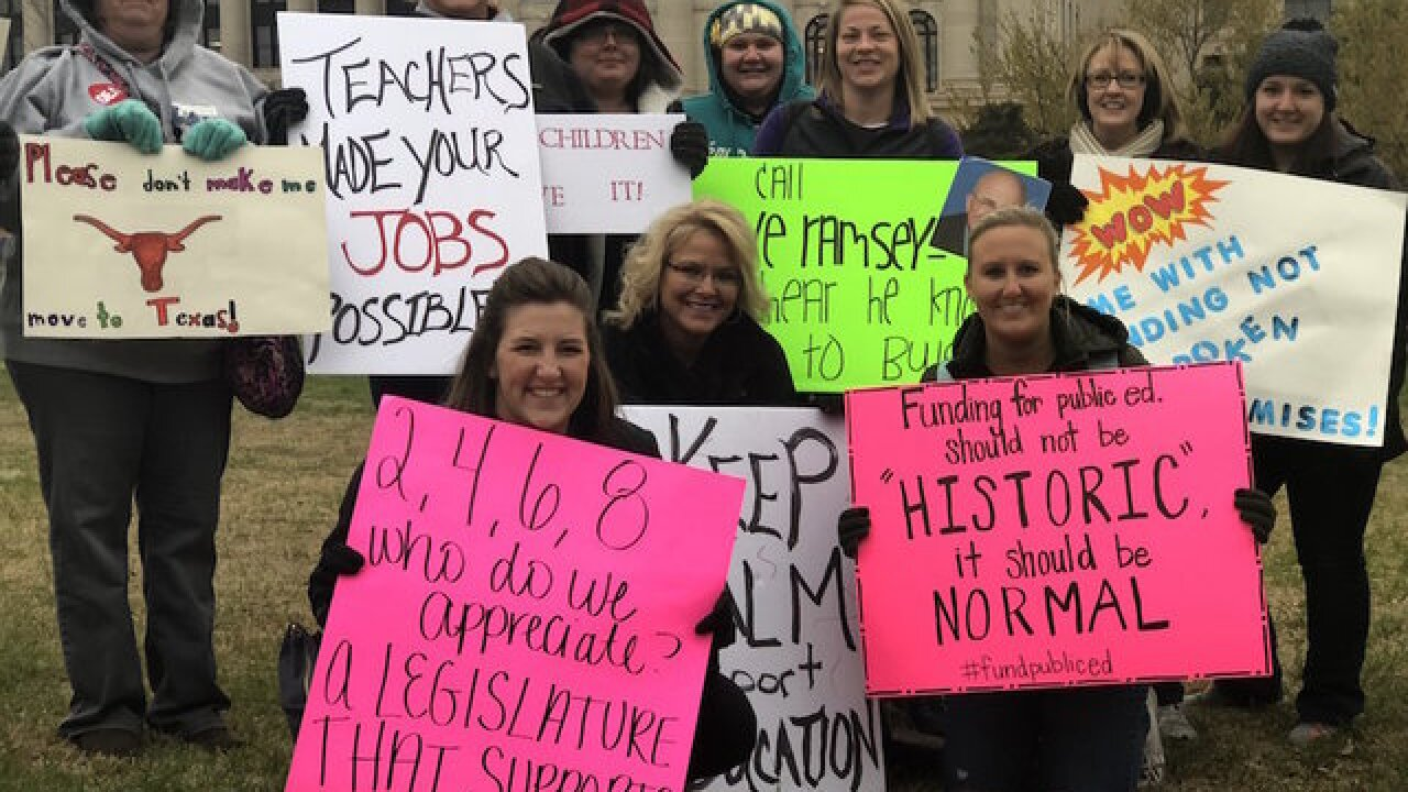 Oklahoma teachers walkout extends into second week