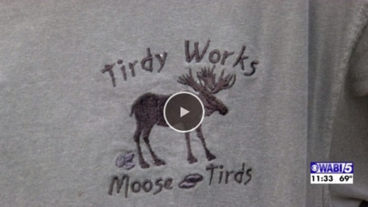 Maine woman creates art from moose poop for her Tirdy Works business