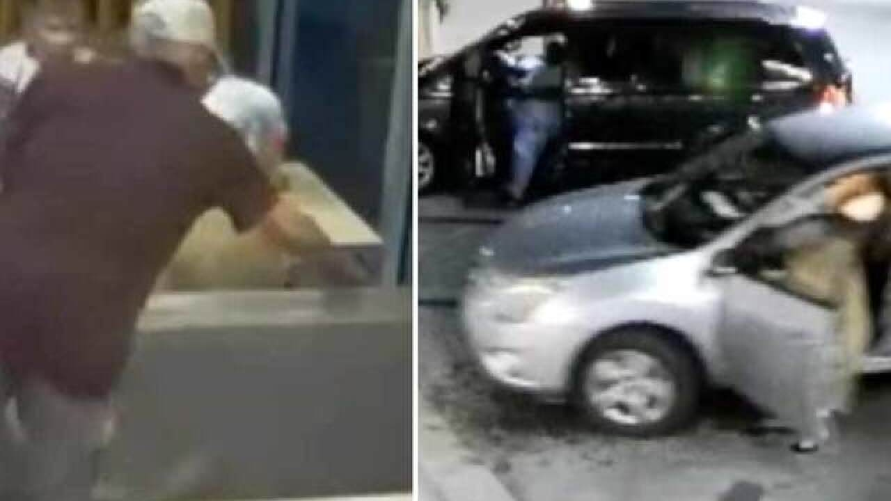 VIDEO: Elderly woman nearly run over after purse snatched at McDonald's in Okeechobee