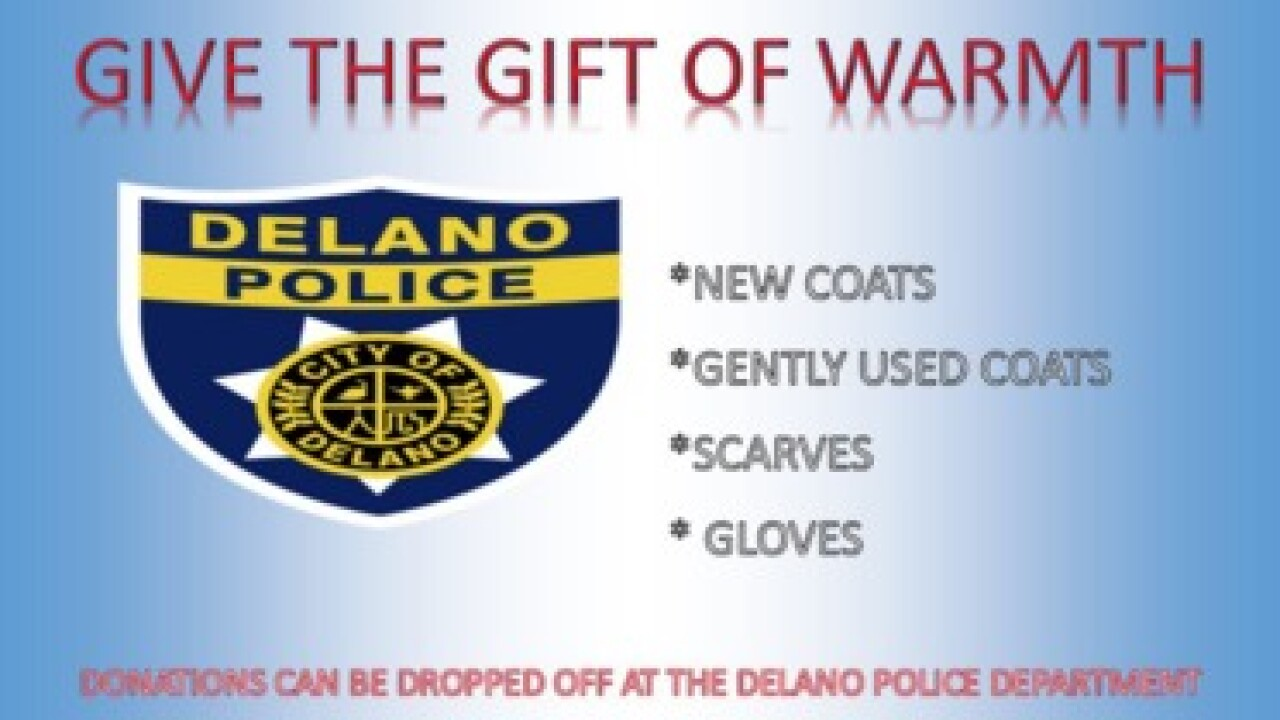 Delano PD asking for clothing donations for children in the community