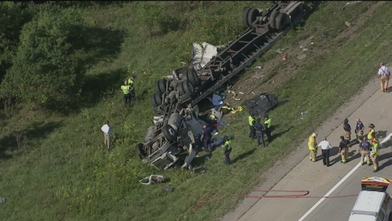 Fatal semi crash causes major traffic delay on eastbound I-696 and Orchard Lake