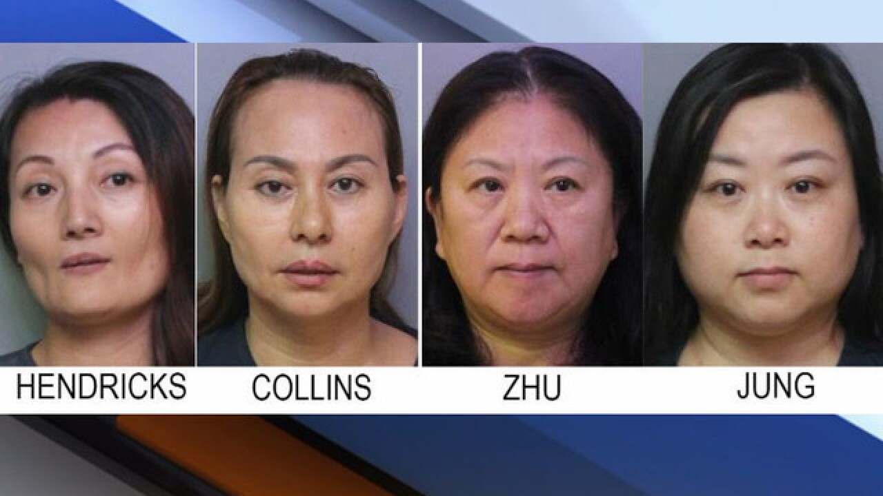 4 massage parlor employees arrested at 2 different businesses in Polk County operation