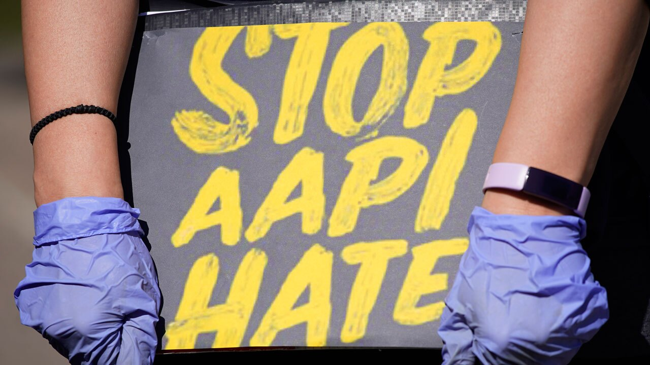 Stop AAPI Hate sign, Stop Asian American Hate sign