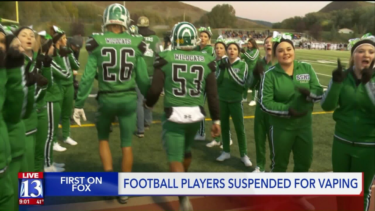 14 football players disciplined after vaping investigation at Kamas school