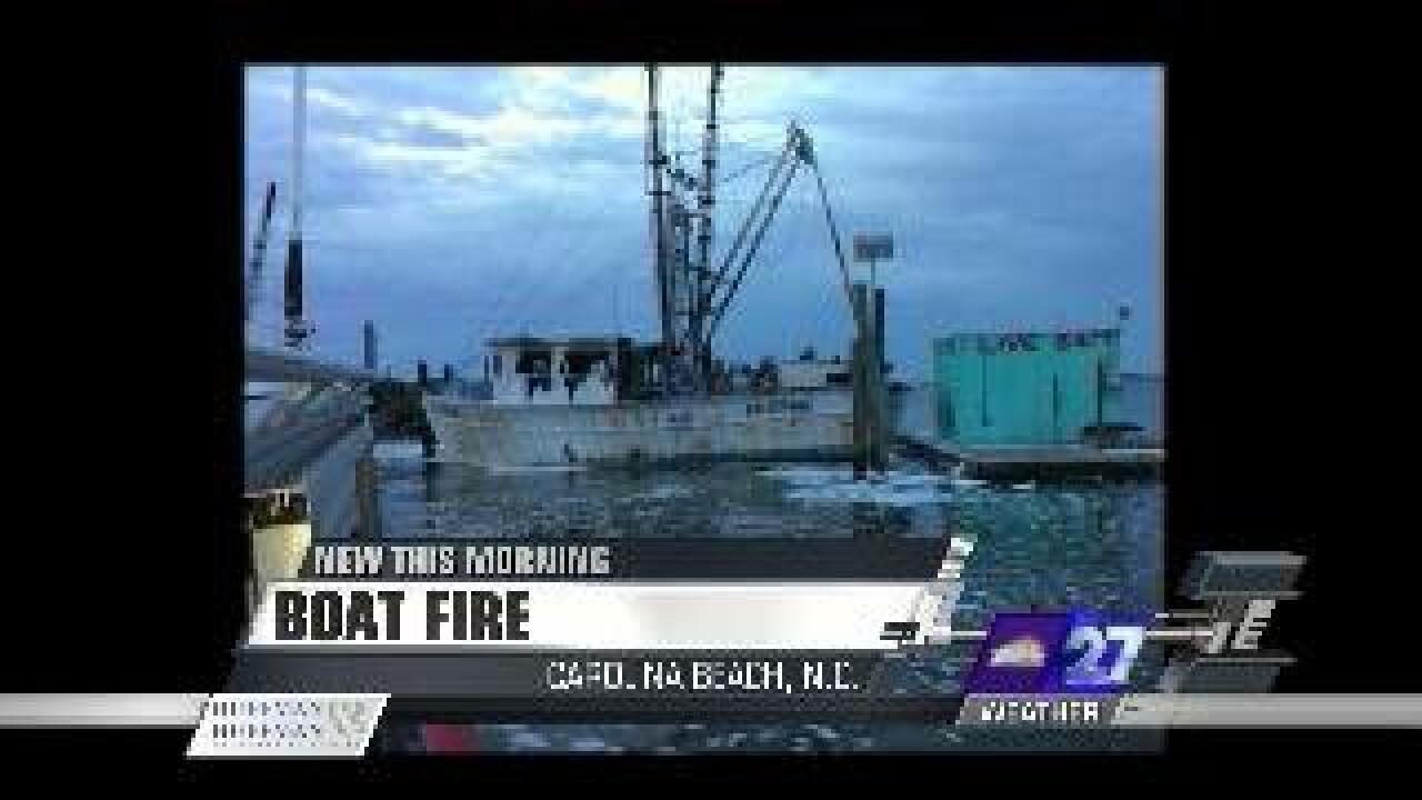 Coast Guard assists with NC boat fire