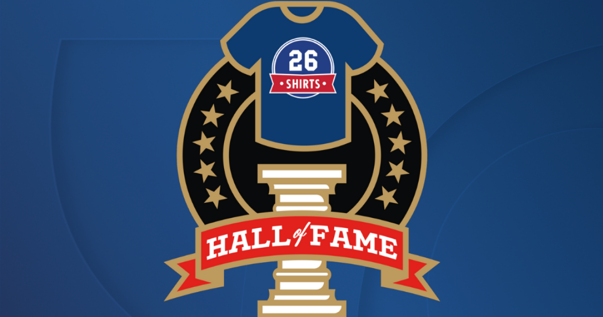 26 Shirts inducts four shirts into 'hall of fame' making them available forever