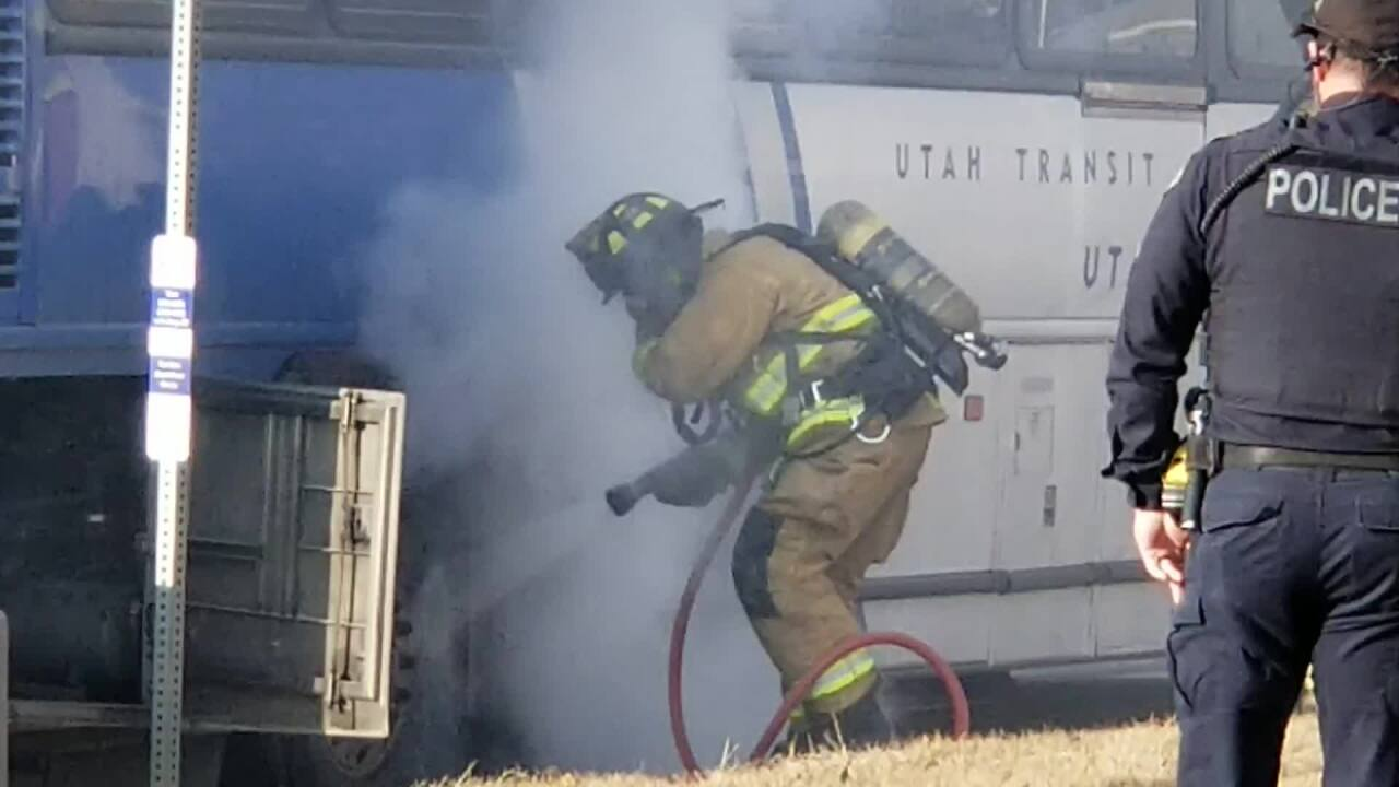 UTA bus catches fire in Provo; no one hurt and cause under investigation