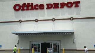 Backpacks are on sale for $10 at Office Depot