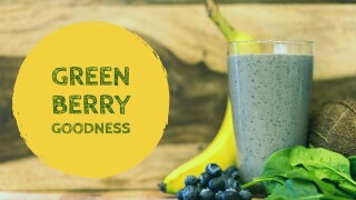 Try a heart-healthy 'Green Berry Goodness'smoothie