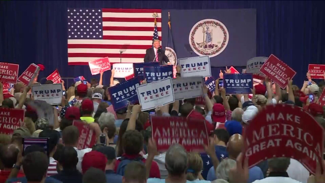 Donald Trump addresses hundreds at Fredericksburg rally: 'We will make America greatagain'