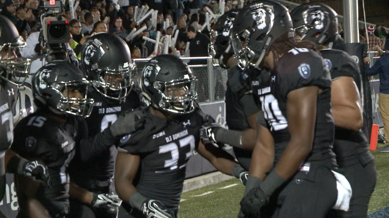 ODU gains bowl-eligibility with dominating win 38-14 overMarshall